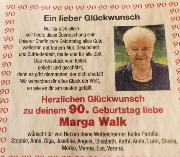 Marga Walk Treuchlingen Keller